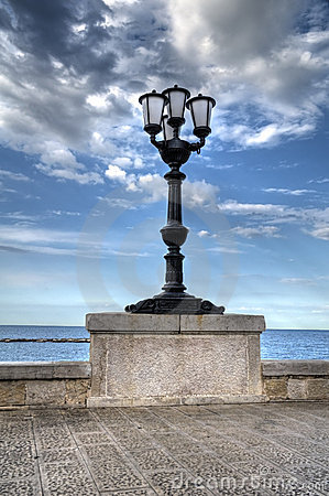 Characteristic lamppost.