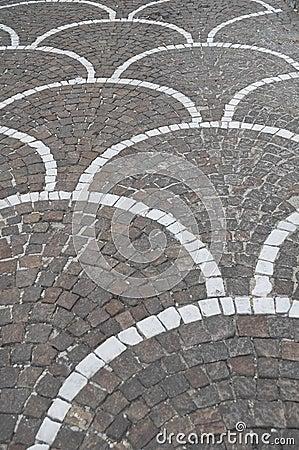 Characteristic pavement.