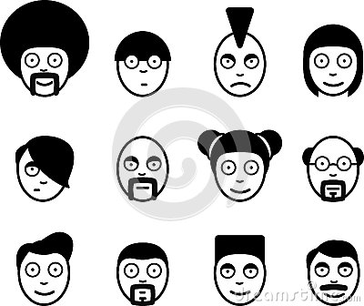 Characters icon set