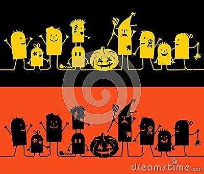 Characters on line - Halloween