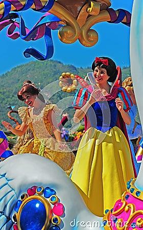 Charakterów Disneyland czarodziejka Obraz Editorial