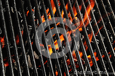 Charcoal fire grill