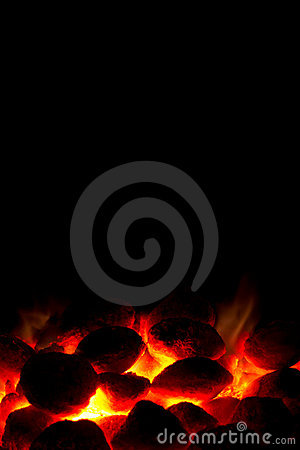 Free Charcoal Fire Ready For Barbeque Royalty Free Stock Photo - 21597125