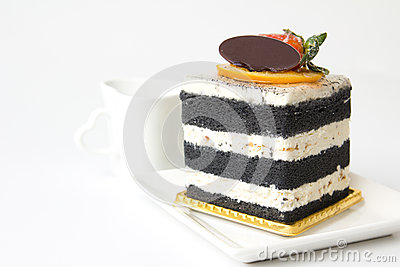 Charcoal layer cake