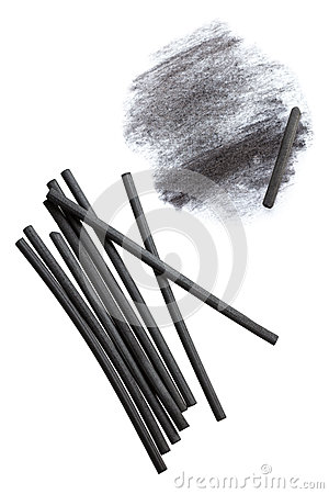 Free Charcoal Sticks Stock Photography - 30948762