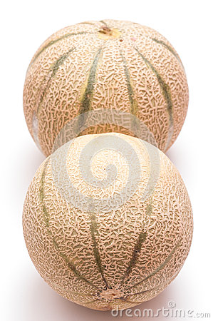 Charentais melons in vertical format