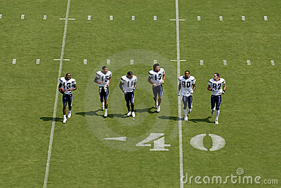 Chargers Practice Editorial Stock Image