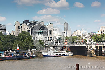 Charing Cross Bridge and Station Editorial Photography