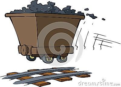 Chariot avec du minerai