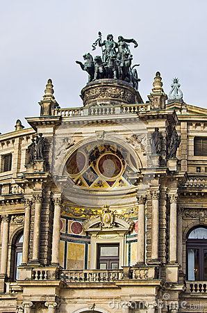 Free Chariot On Opera Building - Dresden, Germany Royalty Free Stock Photo - 53089455
