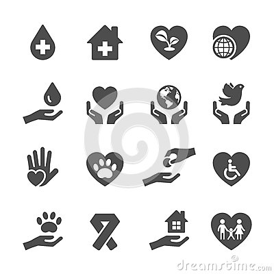Free Charity And Donation Icon Set 3, Vector Eps10 Royalty Free Stock Images - 60836439