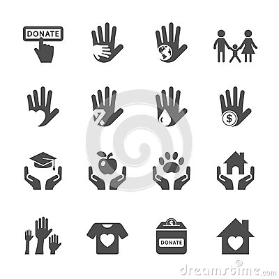 Free Charity And Donation Icon Set, Vector Eps10 Stock Photos - 59915393