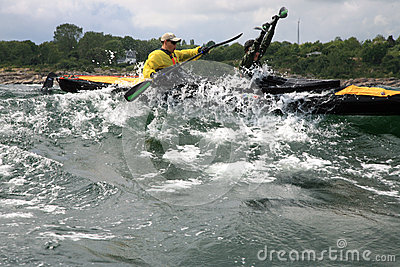 Charity canoe trip - Bornholm Editorial Photography