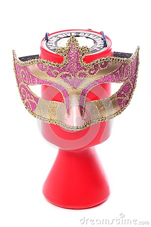 Charity donation and masquerade mask