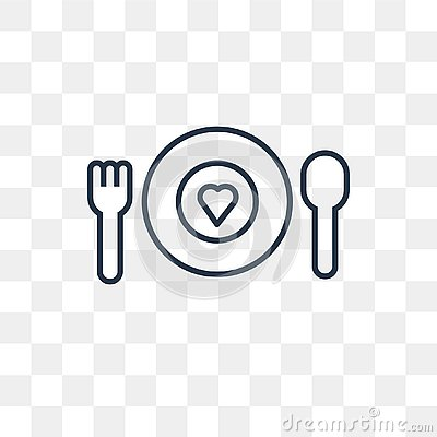 Charity Food vector icon isolated on transparent background, lin Vector Illustration