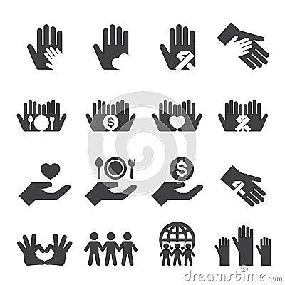 Free Charity Icons Set Stock Image - 50880471