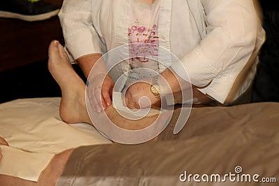 Charity leg waxing