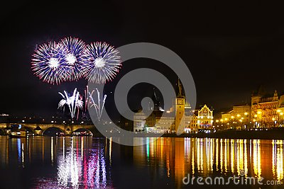 New Year Prague Fireworks