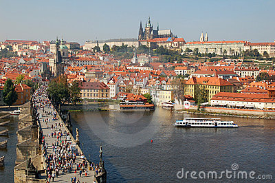 Charles bridge and Castle of Prague 2