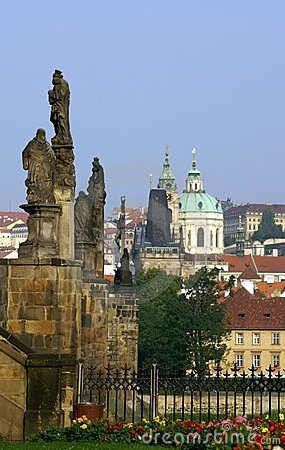 Charles bridge and churches