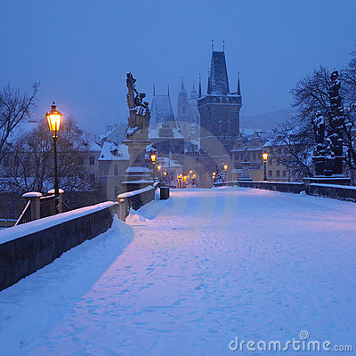 Free Charles Bridge In Winter Royalty Free Stock Images - 11839509