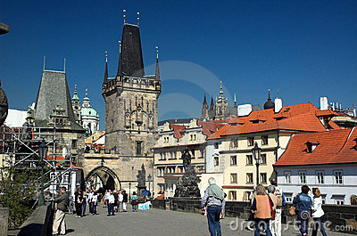 Charles Bridge, Prague Editorial Image