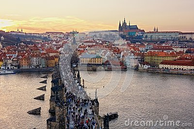 Charles Bridge and Prague Castle, Czech Republic