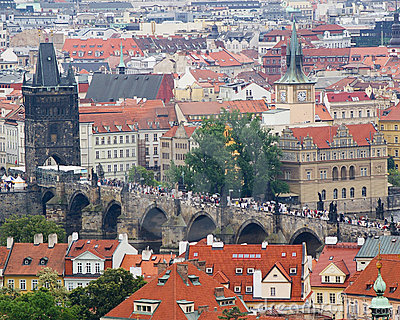 The Charles Bridge in Prague, Czech Republic