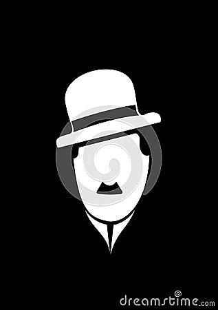 Charles Chaplin comedy  symbol