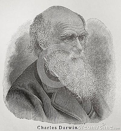 Charles Darwin Editorial Image