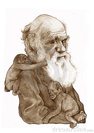 Charles Darwin caricature Sketch Editorial Photography