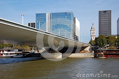 Charles de Gaulle bridge in Paris Editorial Stock Image
