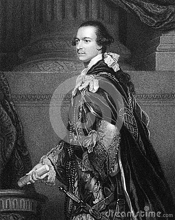 Charles Watson-Wentworth, 2nd Marquess of Rockingham Editorial Stock Photo