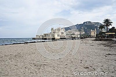Charleston of Mondello on the beach.Palermo