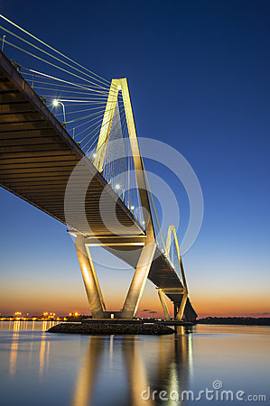 Free Charleston SC Arthur Ravenel Jr. Suspension Bridge Over South Carolina Stock Photography - 30804262