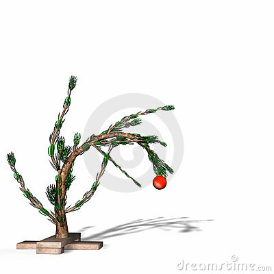 Free Charlie Brown Style Christmas Tree Stock Photography - 405592