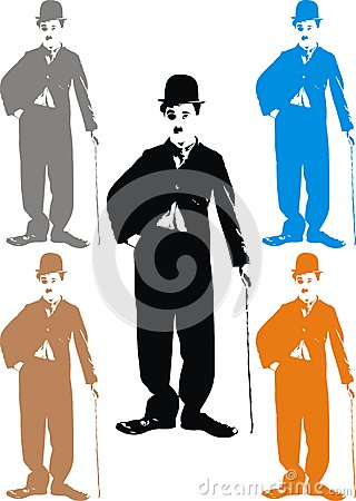 Free Charlie Chaplin - My Caricature Royalty Free Stock Images - 30574419
