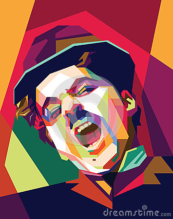 Free Charlie Chaplin Pop Art Stock Photography - 51720432