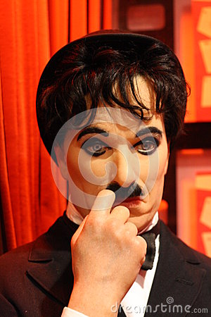 Charlie Chaplin wax figure Editorial Photography