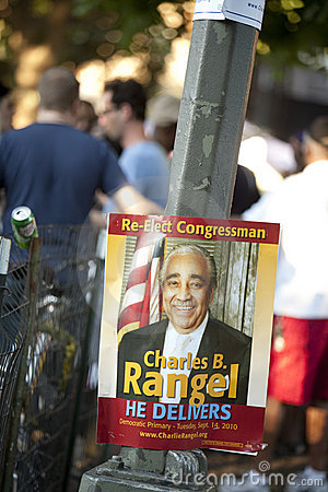 Charlie Rangel Election Poster Editorial Image