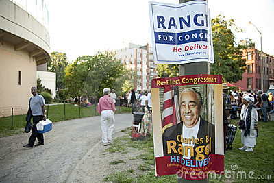 Charlie Rangel Election Poster Editorial Stock Photo