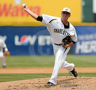 Charlotte 49 er pitcher Andrew Smith Editorial Photography
