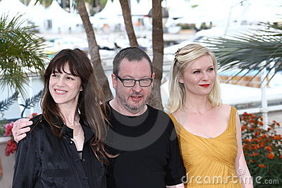 Charlotte Gainsbourg, director Lars Von Trier and  Editorial Photography