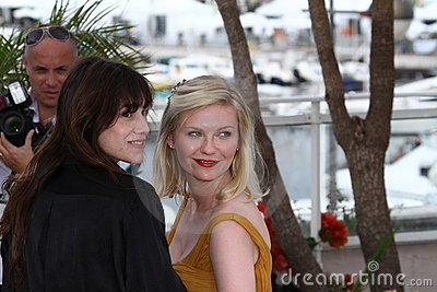 Charlotte Gainsbourg and Kirsten Dunst Editorial Stock Photo
