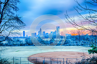 Charlotte the queen city skyline