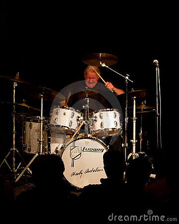 Charly Antolini, Swiss jazz drummer and his Swing Editorial Photography