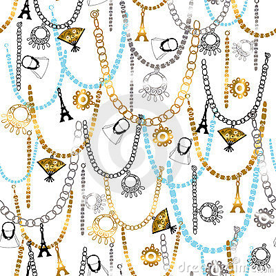 Charm Bracelets and Jewelry Seamless Patter