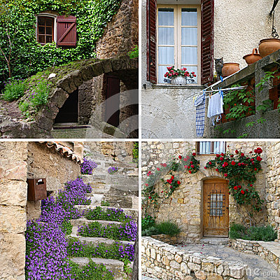 Free Charm Of Provence In Detail, Collage Royalty Free Stock Photography - 44410427