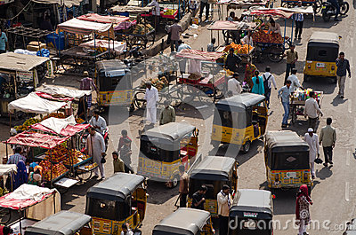 Charminar Bazaar, Hyderabad Editorial Image