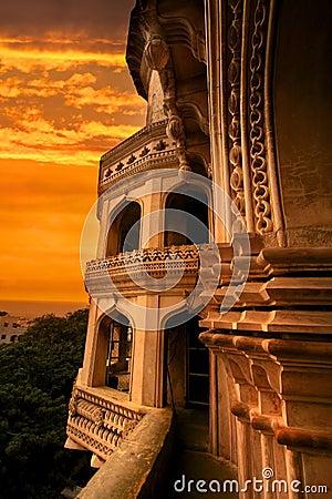 Charminar with evening sky